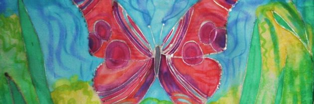 Taller de pintura en seda- Pintando la primavera