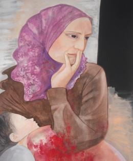 ´´Madre síria con su niño herido´´(2016)
