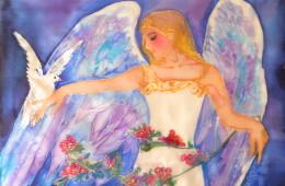 Taller de pintura en seda: Primavera – Alma en flor (15.03.2015)